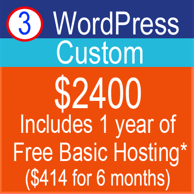 WordPress Custom Website Design Package $2400